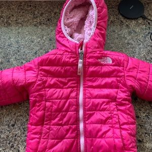 Other - Toddler girls North Face Jacket 2t reversible